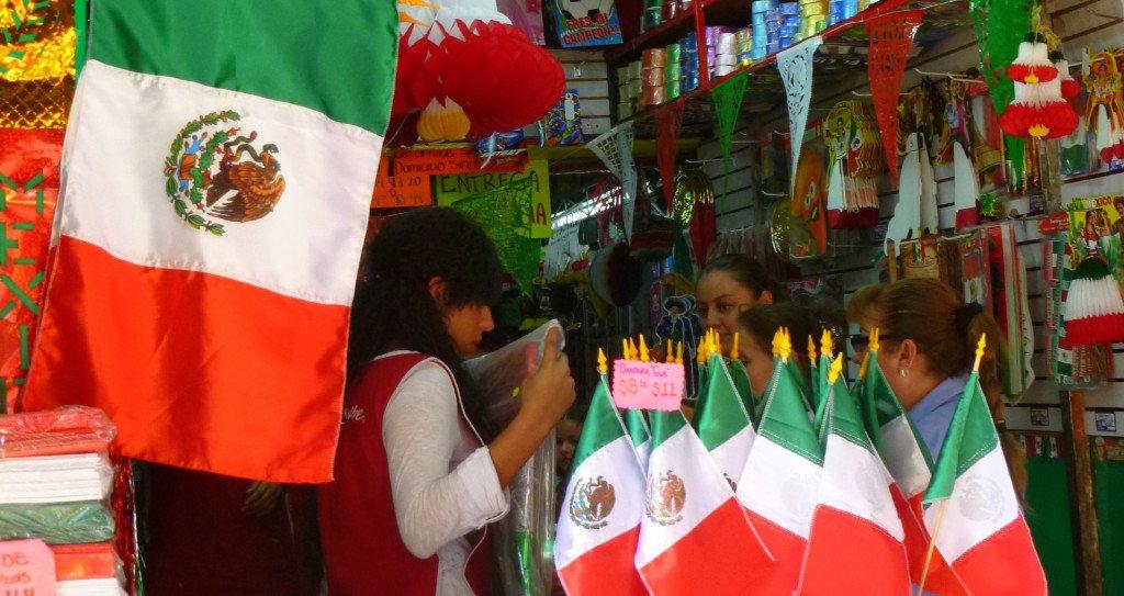 Quand partir au Mexique : décorations pour les Fiestas Patrias ©Mathilde Arnod