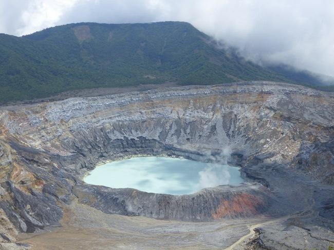 Le Volcan Poas, à 2708 m d'altitude © Elodie Lefèvre-Leroudier