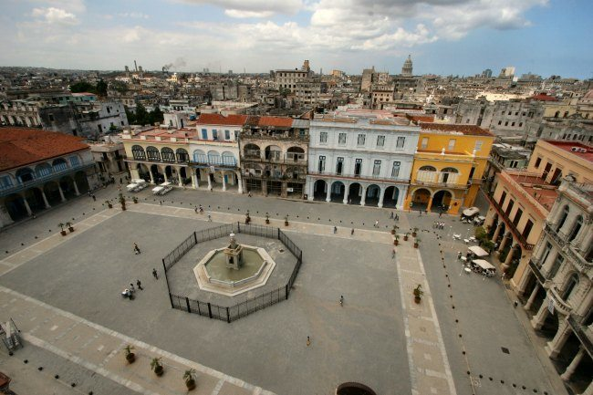 La plaza Vieja, le vieux centre de la Havane