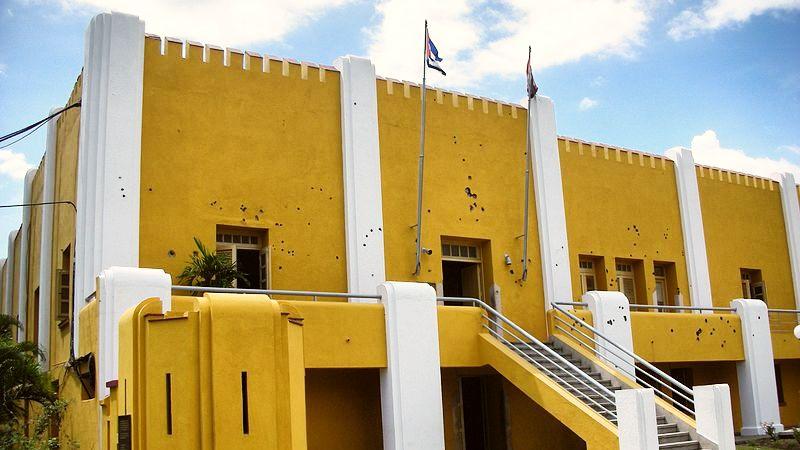 Mur criblé de balles, caserne moncada