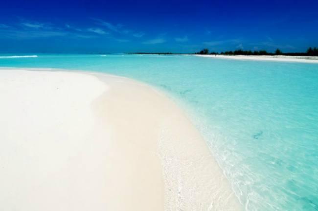 Une plage paradisiaque sur les côtes cubaines